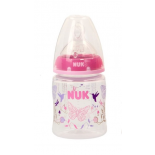 NUK First choice polypropylene bottle with silicone teat size 1. (0-6months) M, 150ml