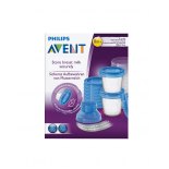 Philips AVENT Breast milk storage containers, 10 x 180ml + 2 adapters
