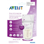 Philips AVENT Breast milk storage bags, 180ml x 25