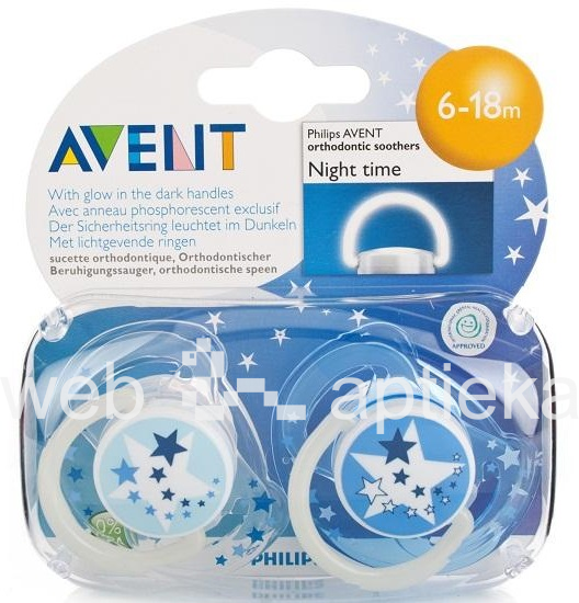Buy Philips Avent Quot Night Time Quot Soother 6 18 Months N2